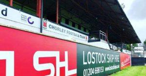 Lostock Skip Hire Advertised at Chorley FC