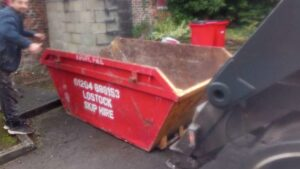 Skip Hire Delivered on Road in Bolton